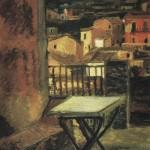 veduta di una terrazza a Castanea